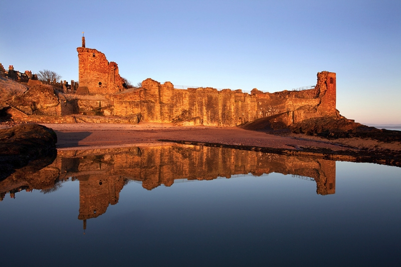 St Andrews Castle at Dawn Fife Scotland