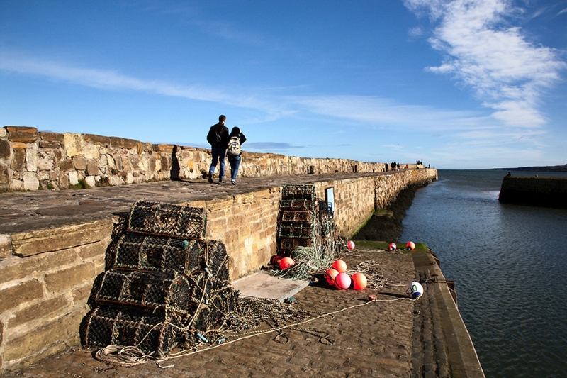 Lobster Pots at St Andrews Harbour St Andrews Fife Scotland