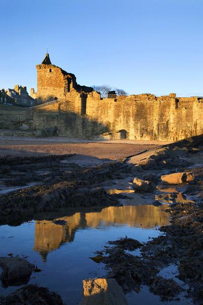 St Andrews Castle at Sunrise St Andrews Fife Scotland