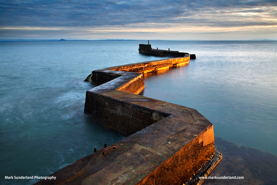 Zig Zag Breakwater at Sunset St Monans